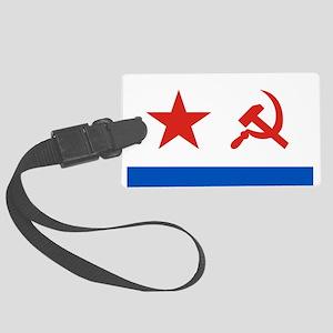 Soviet Navy flag Large Luggage Tag