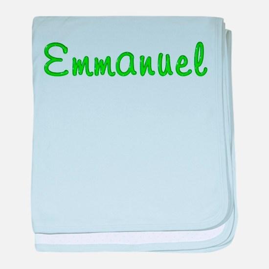 Emmanuel Glitter Gel baby blanket