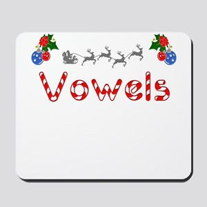 Vowels, Christmas Mousepad
