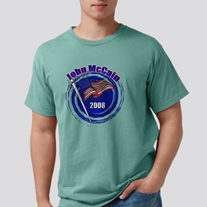 john mc flag 2008 swirl  Mens Comfort Colors Shirt