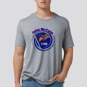 john mc flag 2008 swirl cop Mens Tri-blend T-Shirt