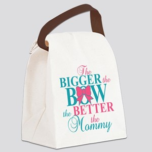 Bigger the bow better mommy Canvas Lunch Bag