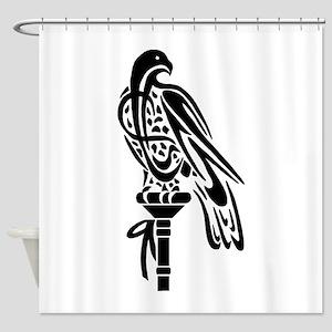 2-Falcon on Block Shower Curtain
