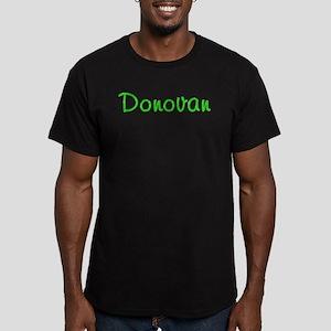 Donovan Glitter Gel Men's Fitted T-Shirt (dark)