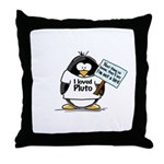 Pluto Penguin Throw Pillow
