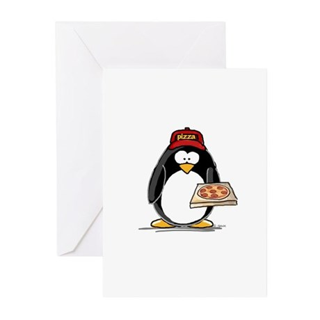 Pizza Penguin Greeting Cards (Pk of 10)