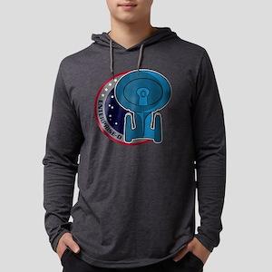 enterprise-d-mission-patch copy. Mens Hooded Shirt