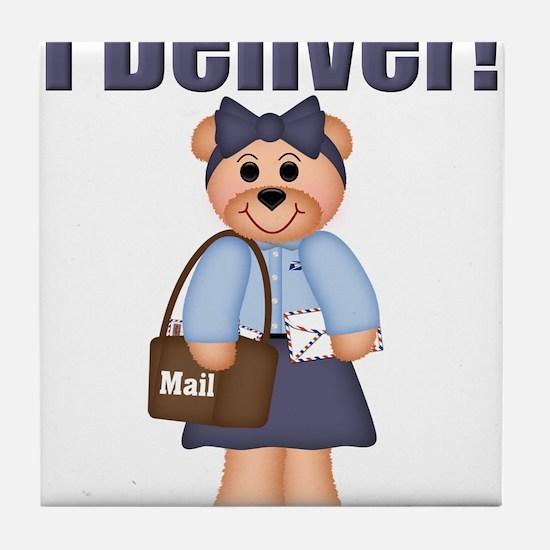 Cute Postal bears Tile Coaster