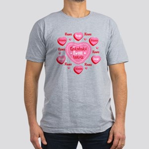 Grandma's Sweethearts Personalized Men's Fitted T-