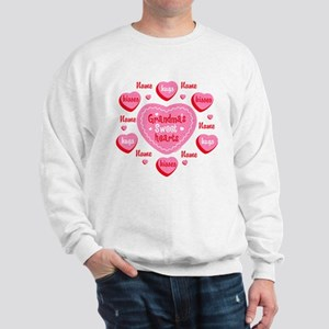 Grandma's Sweethearts Personalized Sweatshirt