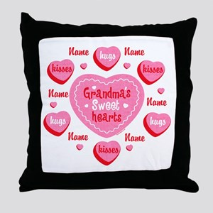 Grandma's Sweethearts Personalized Throw Pillow