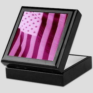Pink Stars And Stripes - USA Flag Keepsake Box