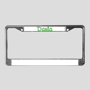 Darla Glitter Gel License Plate Frame