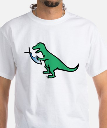 Atheism and T-Rex White T-Shirt