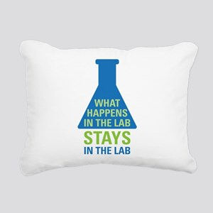In The Lab Rectangular Canvas Pillow