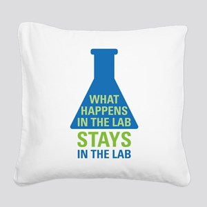 In The Lab Square Canvas Pillow