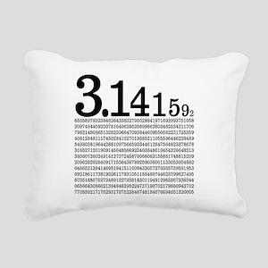 3.1415926 Pi Rectangular Canvas Pillow