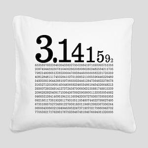 3.1415926 Pi Square Canvas Pillow