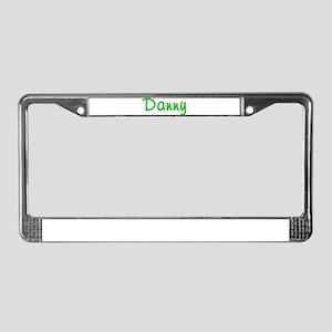 Danny Glitter Gel License Plate Frame
