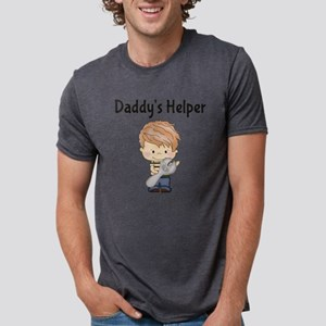 Daddys Helper with Wrench Mens Tri-blend T-Shirt