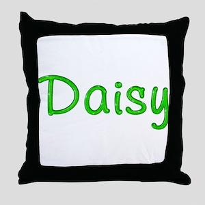 Daisy Glitter Gel Throw Pillow