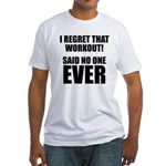 I hate Burpees Fitted T-Shirt