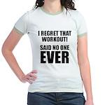 I hate Burpees Jr. Ringer T-Shirt