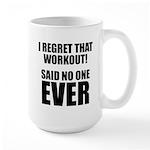 I hate Burpees Large Mug