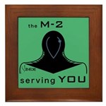 M-2 Ad green Framed Tile