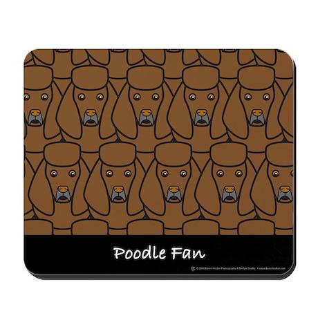 Brown Poodle Fan Mousepad