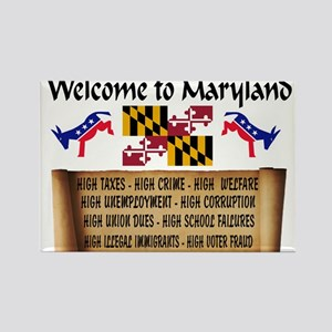 MARYLAND HIGH Rectangle Magnet