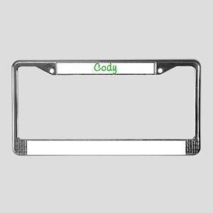Cody Glitter Gel License Plate Frame