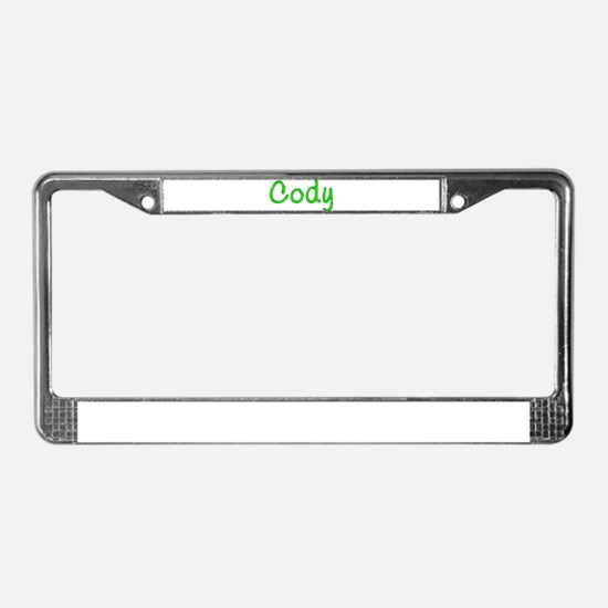 Cody Glitter Gel License Plate Frame