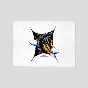 My Inner Collie 5'x7'Area Rug
