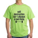 Self Destruction Green T-Shirt