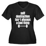 Self Destruction Women's Plus Size V-Neck Dark T-S