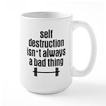 Self Destruction Large Mug
