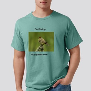 Palm Warbler with green  Mens Comfort Colors Shirt