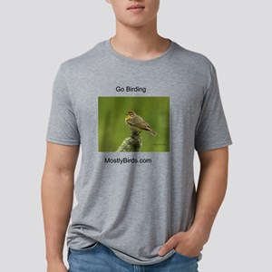 Palm Warbler with green bac Mens Tri-blend T-Shirt