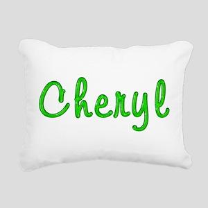 Cheryl Glitter Gel Rectangular Canvas Pillow