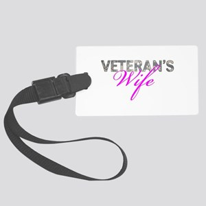 ACU Army Vet Wife Large Luggage Tag