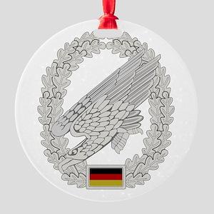 West German Paratrooper Round Ornament
