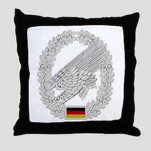 West German Paratrooper Throw Pillow