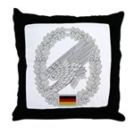 West German Paratrooper Throw Pillow
