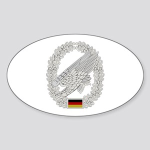 West German Paratrooper Sticker (Oval)