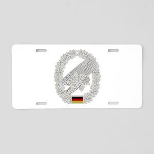 West German Paratrooper Aluminum License Plate