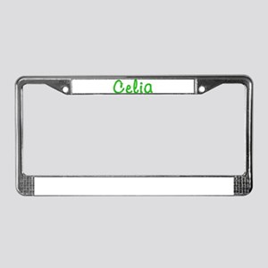 Celia Glitter Gel License Plate Frame