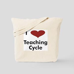 I Heart Teaching Cycle - Tote Bag