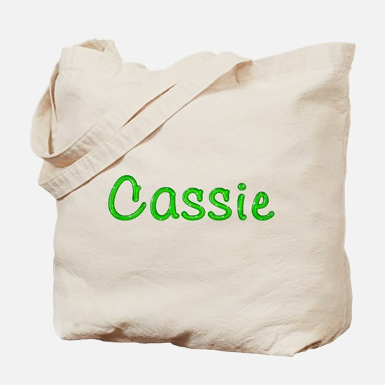 Cassie Glitter Gel Tote Bag
