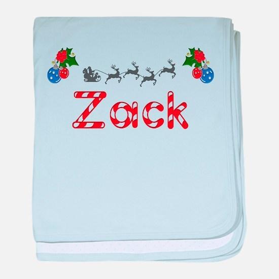 Zack, Christmas baby blanket